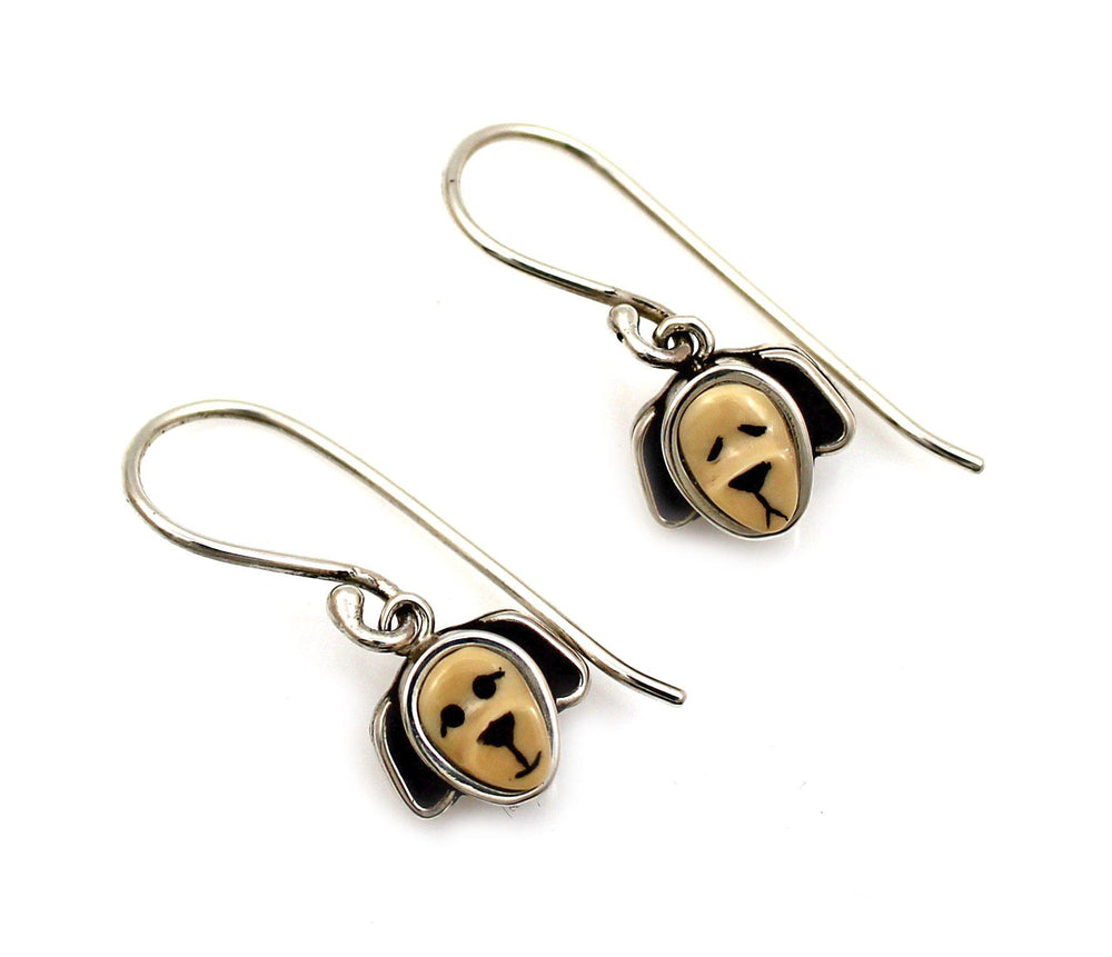 Puppy Dangle Earrings