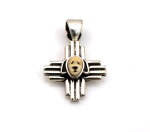 Puppy Zia Cross Pendant-Jewelry-Michelle Tapia-Sorrel Sky Gallery