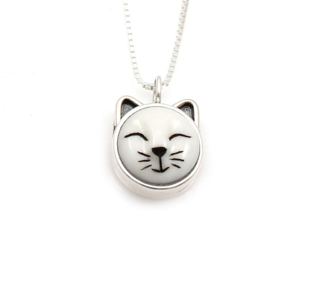 Sleeping Cat Pendant-Jewelry-Michelle Tapia-Sorrel Sky Gallery