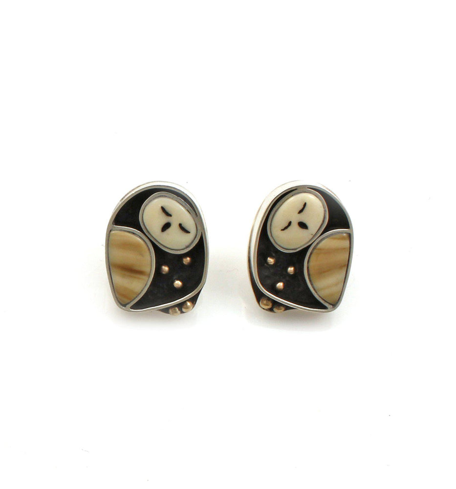 Sleeping Owlet Post Earrings