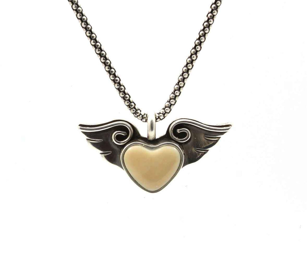 Small Heart With Wings Pendant