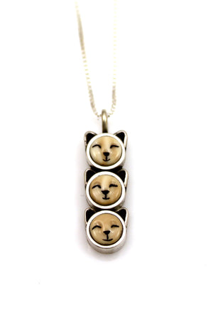 Three Kittens Pendant-Jewelry-Michelle Tapia-Sorrel Sky Gallery