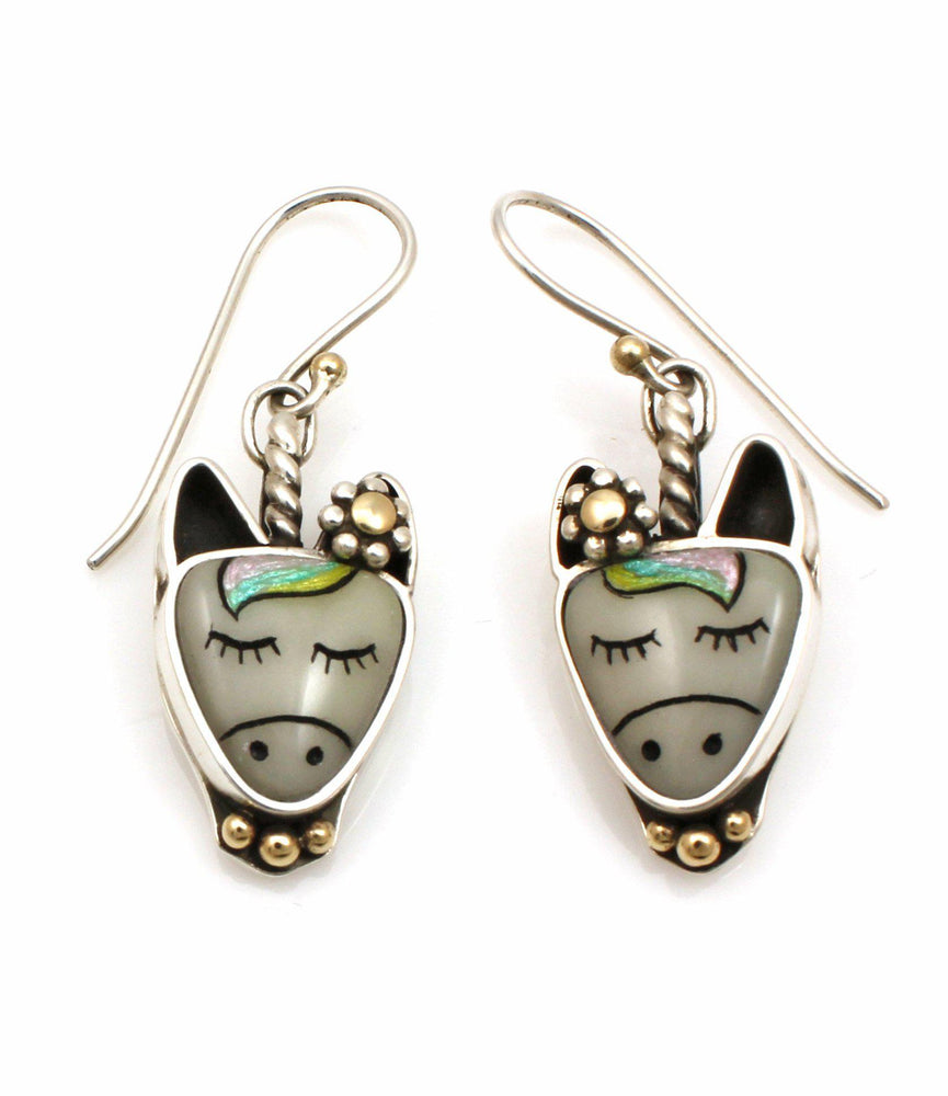 Unicorn Drop Earrings-Jewelry-Michelle Tapia-Sorrel Sky Gallery