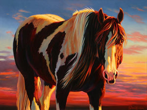 Nancy Davidson-Sorrel Sky Gallery-Painting-Sunset Stallion