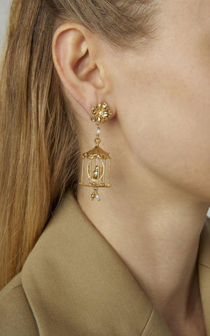 Pagoda Earrings-Jewelry-Of Rare Origin-Sorrel Sky Gallery