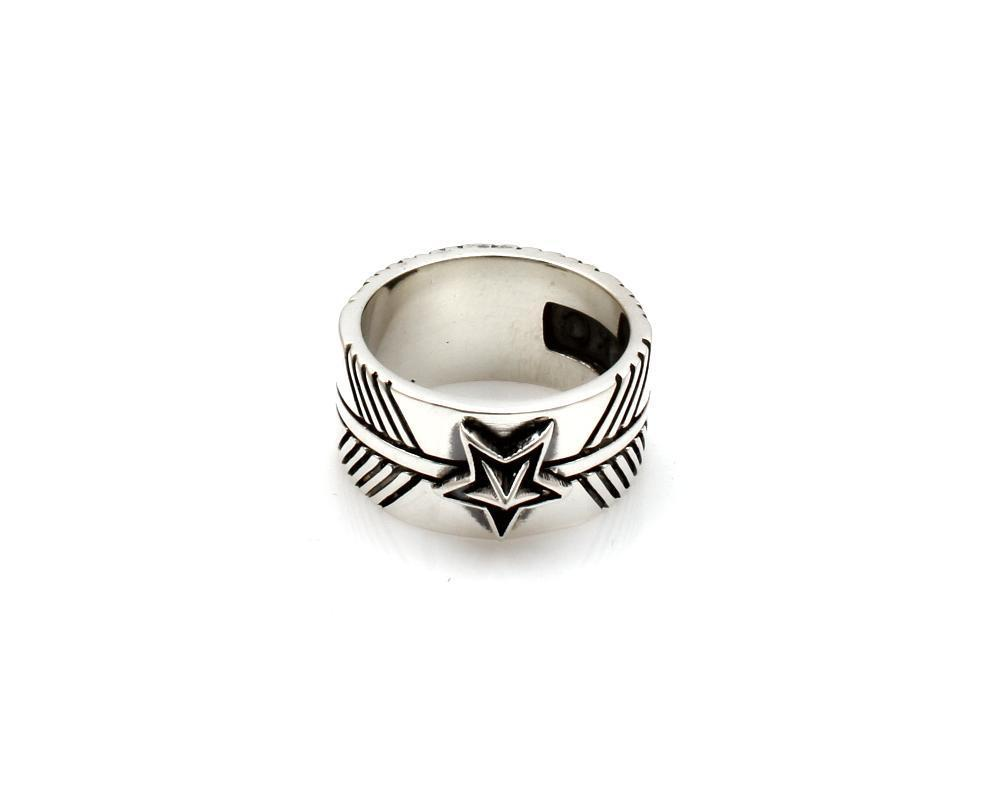 One Medium Star Feather Ring