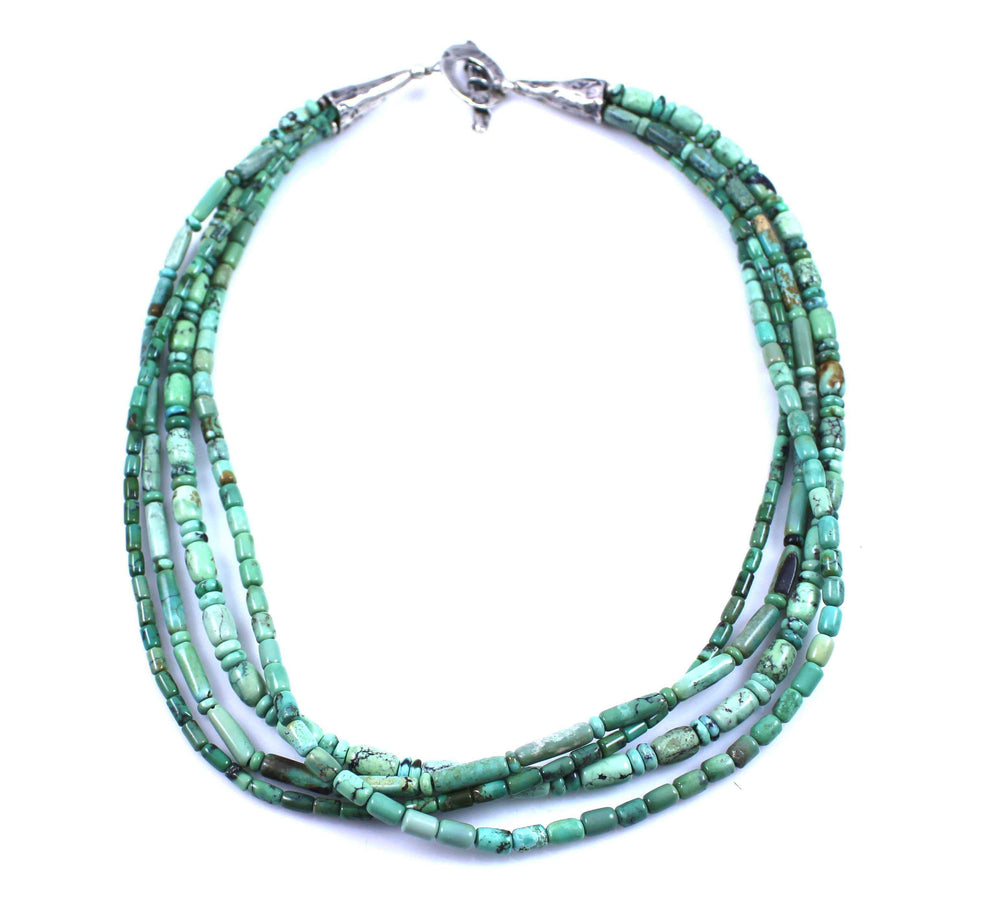 Pam Springall-Sorrel Sky Gallery-Jewelry-4 Strand Chinese Turquoise Necklace