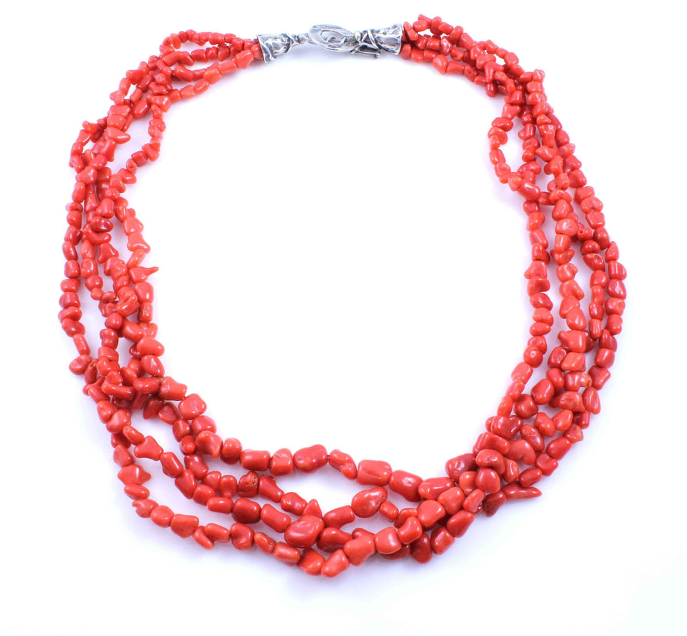 Pam Springall-Sorrel Sky Gallery-Jewelry-4 Strand Coral Necklace