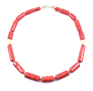 Pam Springall-Sorrel Sky Gallery-Jewelry-Antique Coral And Gold Necklace