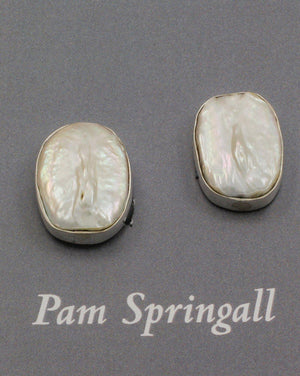 Baroque Pearl Clip On Earrings-Jewelry-Pam Springall-Sorrel Sky Gallery