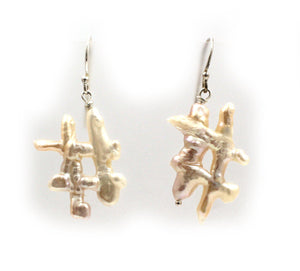 Calligraphy Pearl Wire Earrings-Jewelry-Pam Springall-Sorrel Sky Gallery