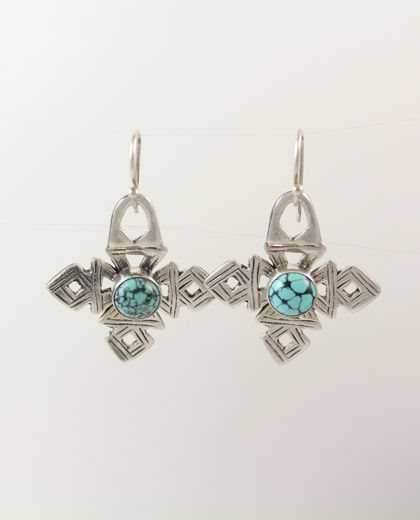 Coptic Crosses With Turquoise Earrings