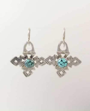 Pam Springall-Sorrel Sky Gallery-Jewelry-Coptic Crosses With Turquoise Earrings
