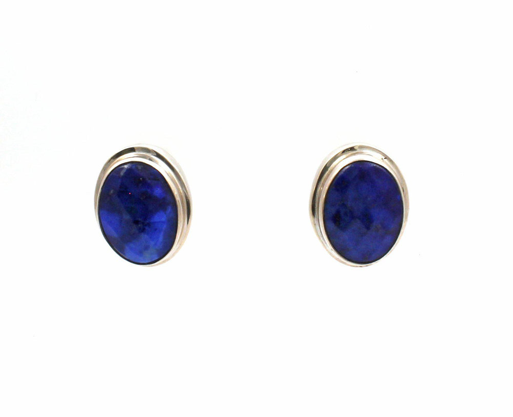 Faceted Lapis Post Earrings-Jewelry-Pam Springall-Sorrel Sky Gallery