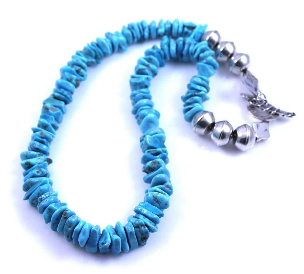 Pam Springall-Sorrel Sky Gallery-Jewelry-Flat Bead Turquoise Necklace