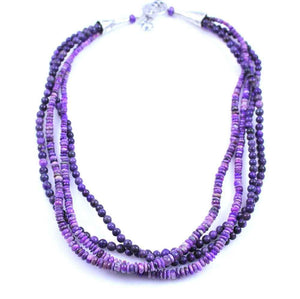Pam Springall-Sorrel Sky Gallery-Jewelry-Four Strand Sugilite Necklace