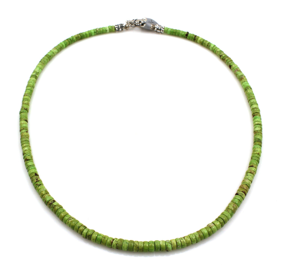 Gaspeite Bead Necklace-Jewelry-Pam Springall-Sorrel Sky Gallery