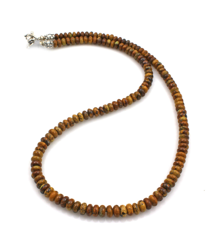 Gaspeite Matrix Bead Necklace-Jewelry-Pam Springall-Sorrel Sky Gallery