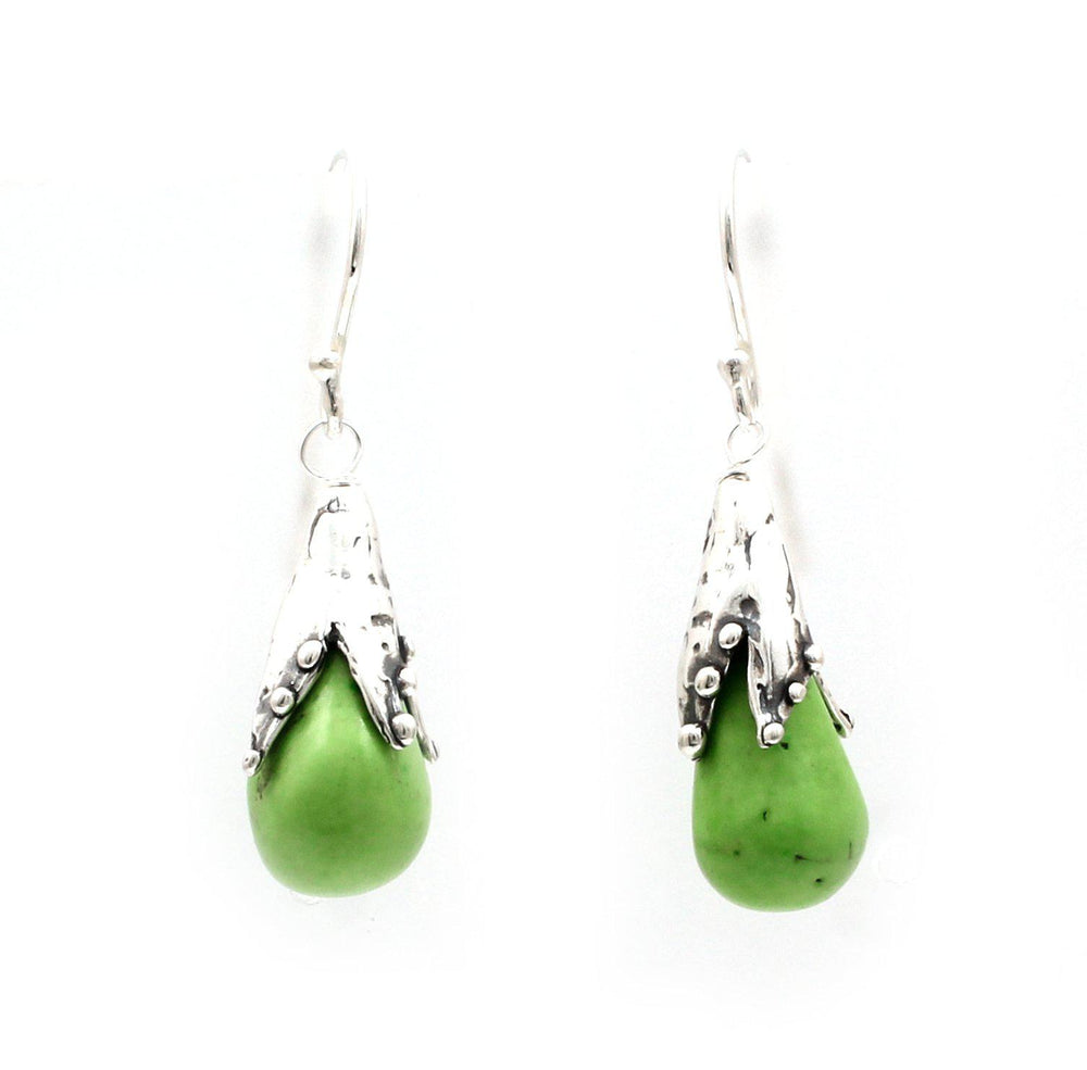 Gaspeite Snowdrop Earrings-Jewelry-Pam Springall-Sorrel Sky Gallery
