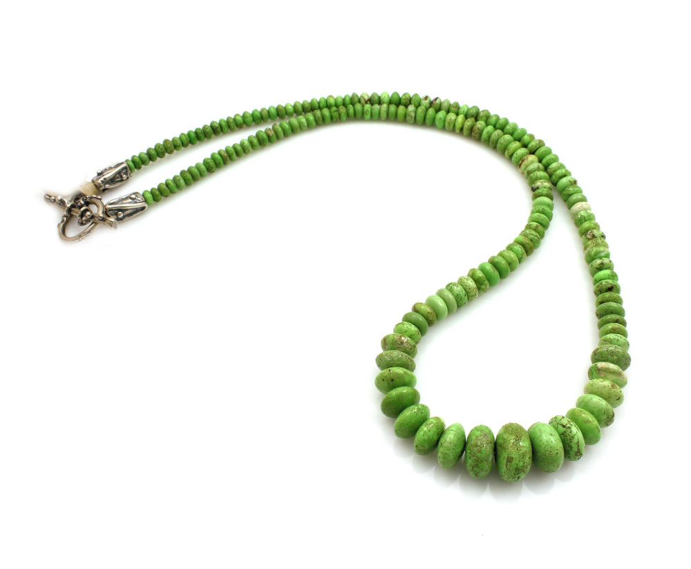 Graduated Gaspeite Necklace-Jewelry-Pam Springall-Sorrel Sky Gallery