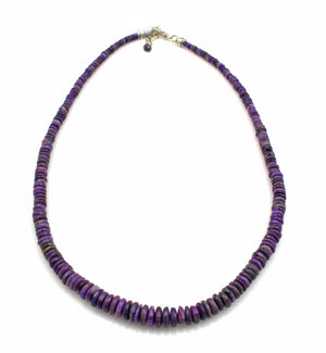 Graduated Sugilite Bead Necklace-Jewelry-Pam Springall-Sorrel Sky Gallery