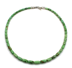 Green Chinese Turquoise Bead Necklace-Jewelry-Pam Springall-Sorrel Sky Gallery