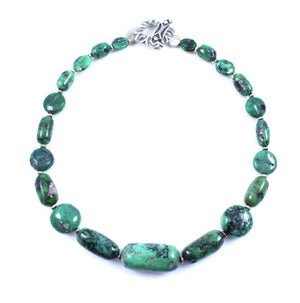 Pam Springall-Sorrel Sky Gallery-Jewelry-Green Turquoise Necklace