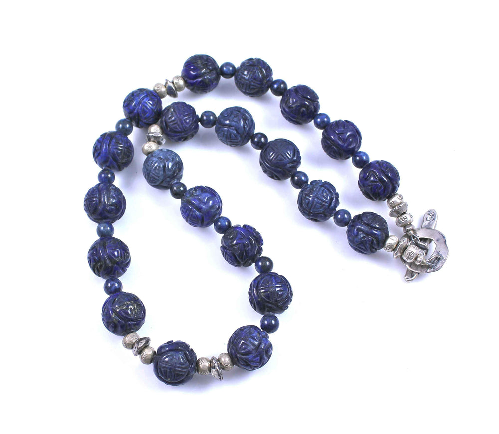 Pam Springall-Sorrel Sky Gallery-Jewelry-Hand Carved Lapis Necklace