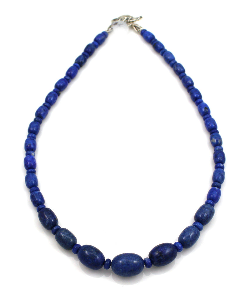 Lapis Barrels Necklace-Jewelry-Pam Springall-Sorrel Sky Gallery