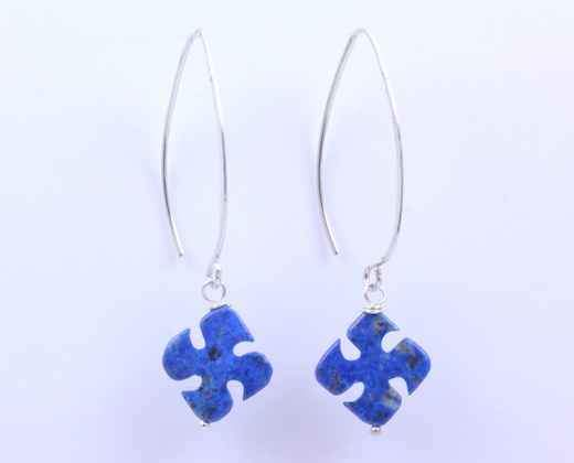 Pam Springall-Sorrel Sky Gallery-Jewelry-Lapis Cross Earrings