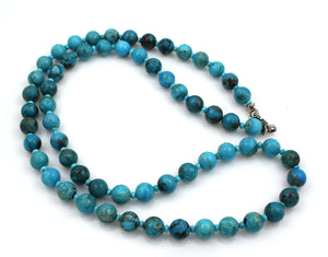 "Nakozari Turquoise Rounds 36"" Necklace-Jewelry-Pam Springall-Sorrel Sky Gallery"