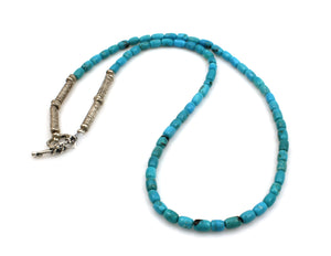 Nakozari Turquoise Tube Bead Necklace-Jewelry-Pam Springall-Sorrel Sky Gallery