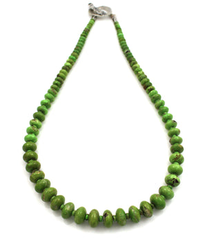 Natural Gaspeite Necklace-Jewelry-Pam Springall-Sorrel Sky Gallery