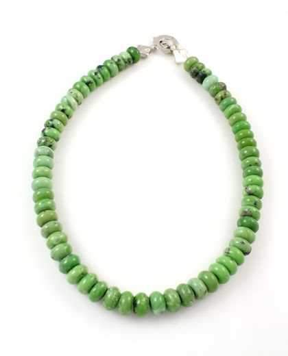 Pam Springall-Sorrel Sky Gallery-Jewelry-Natural Green Serpentine Necklace