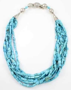 Pam Springall-Sorrel Sky Gallery-Jewelry-Natural Persian Turquoise Necklace