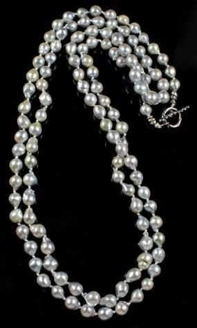 Pam Springall-Sorrel Sky Gallery-Jewelry-Natural Silver Akoya Pearl Necklace