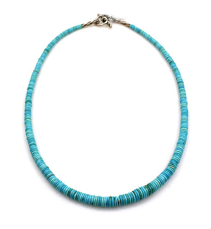 Sleeping Beauty Turquoise Bead Necklace-Jewelry-Pam Springall-Sorrel Sky Gallery