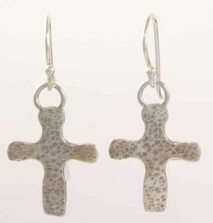 Pam Springall-Sorrel Sky Gallery-Jewelry-Small Hammered Cross Earrings