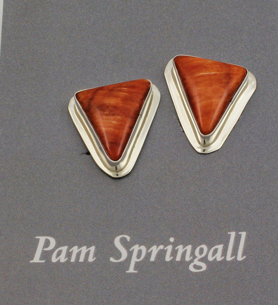 Spiny Oyster Clip On Earrings-Jewelry-Pam Springall-Sorrel Sky Gallery