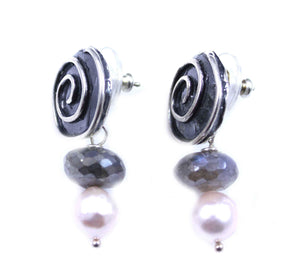 Pam Springall-Sorrel Sky Gallery-Jewelry-Spiral Earrings