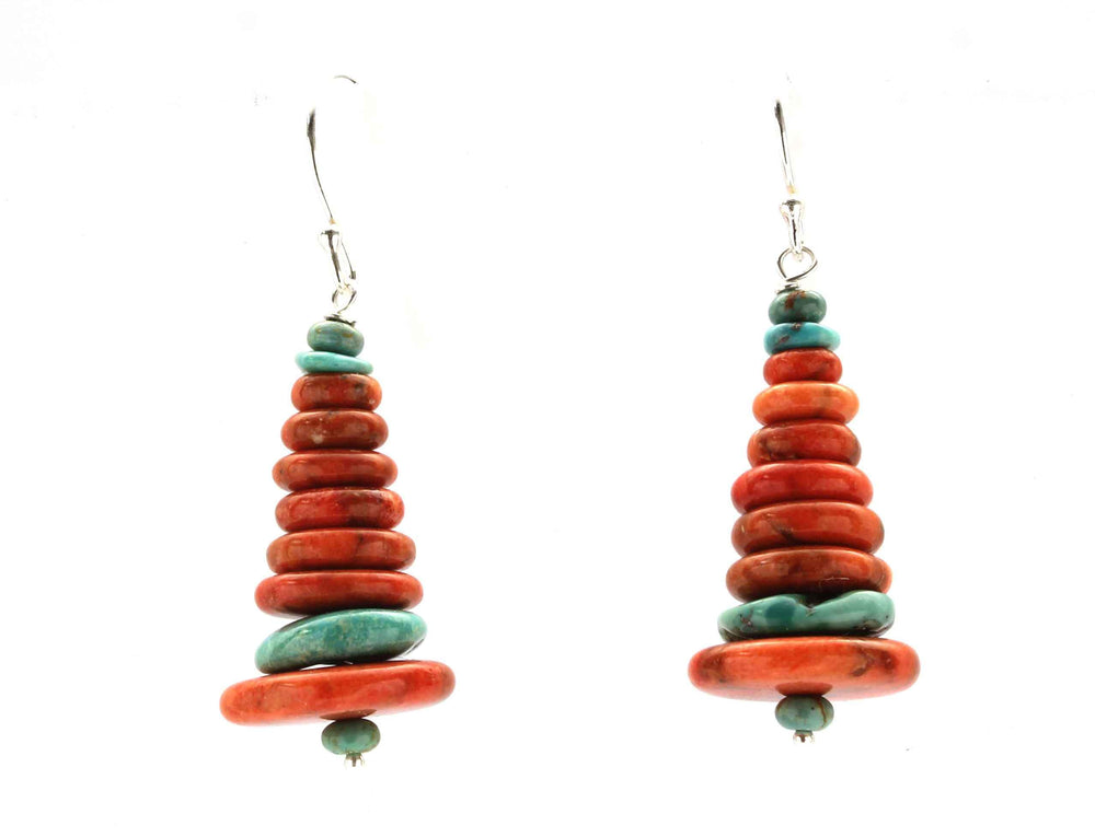 Stacked Sponge Coral Earrings