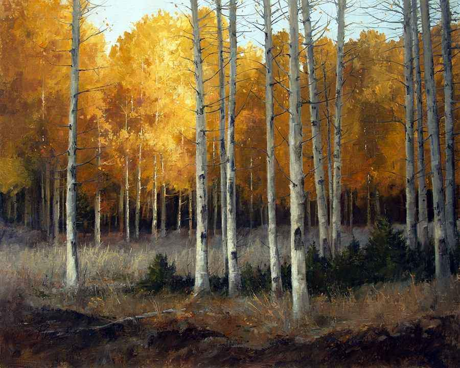 Peggy Immel-Aspen Glow-Sorrel Sky Gallery-Painting