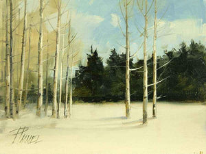 Peggy Immel-Aspens In Deep Snow-Sorrel Sky Gallery-Painting