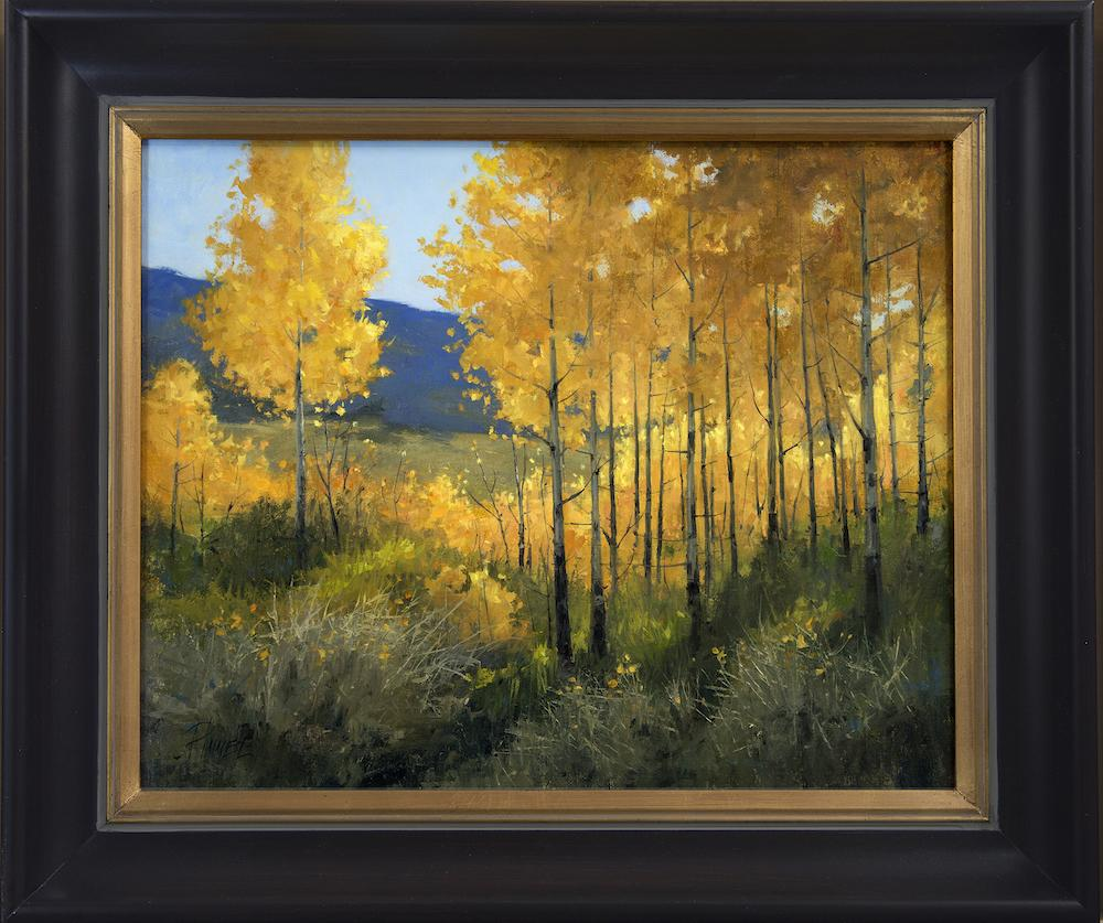 Aspens In Full Dress-Painting-Peggy Immel-Sorrel Sky Gallery