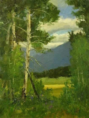 Peggy Immel-Aspens In The Morning-Sorrel Sky Gallery-Painting