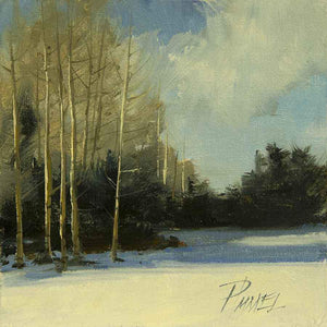 Peggy Immel-Aspens In Winter-Sorrel Sky Gallery-Painting