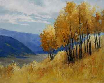Peggy Immel-Hillside Finale-Sorrel Sky Gallery-Painting
