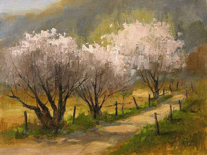 Peggy Immel-Orchard Fence Line-Sorrel Sky Gallery-Painting
