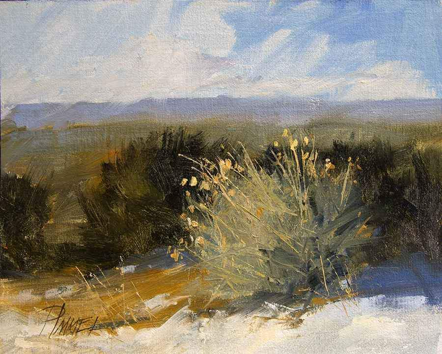 Peggy Immel-Rabbit Brush-Sorrel Sky Gallery-Painting