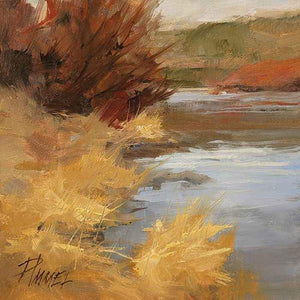 Peggy Immel-Riverbank Reeds-Sorrel Sky Gallery-Painting